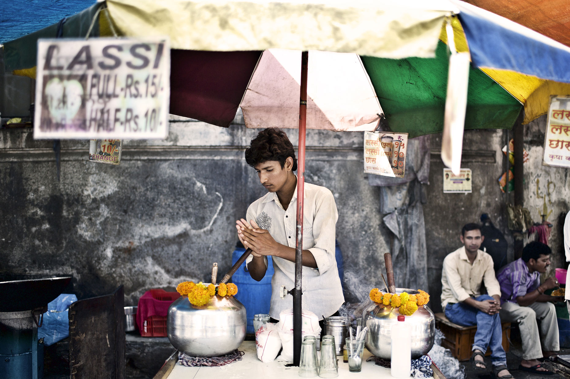 Street vendor by UK lifestyle photographer Andy Smith