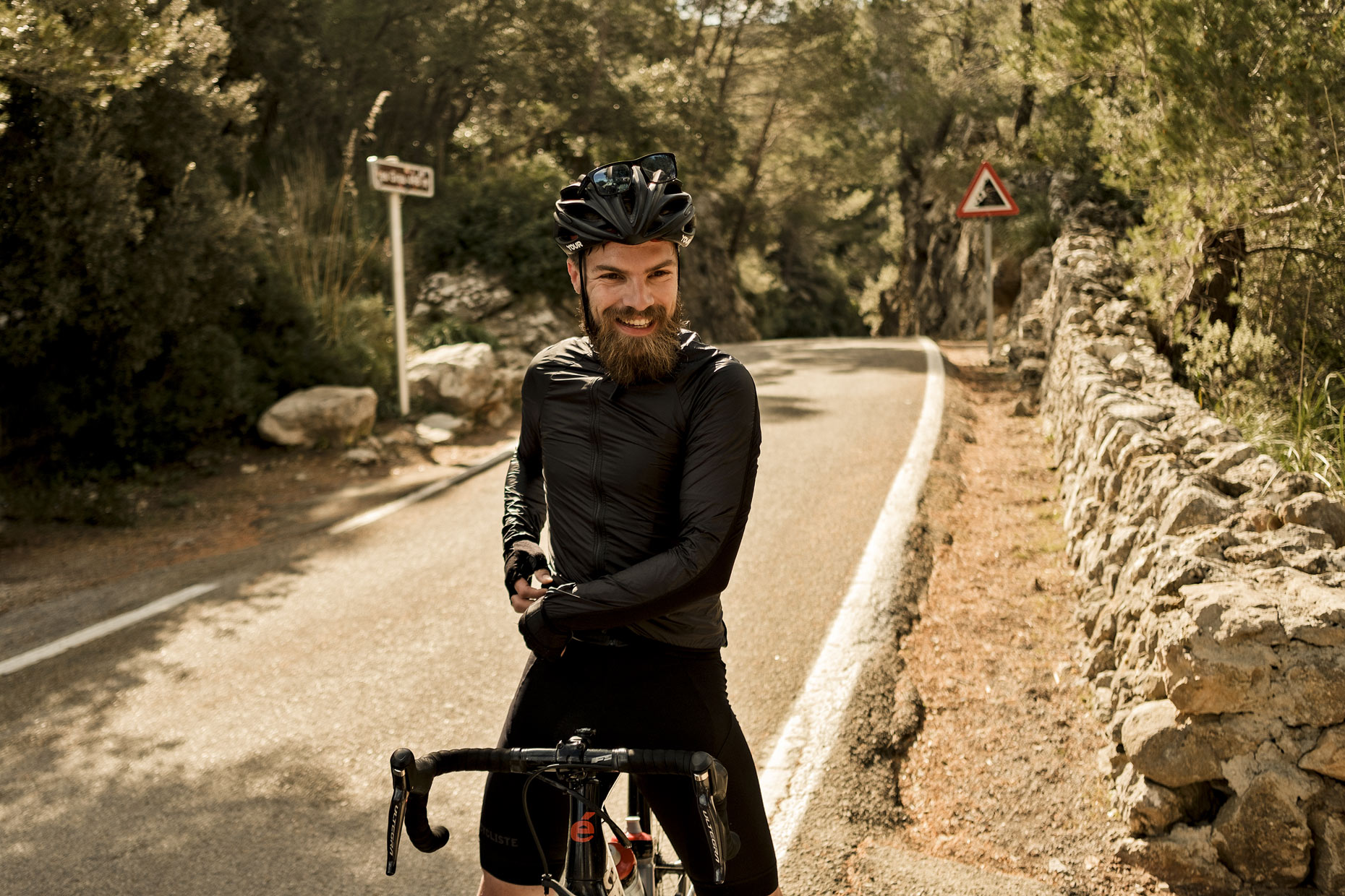 Lifestyle photography of a cyclist