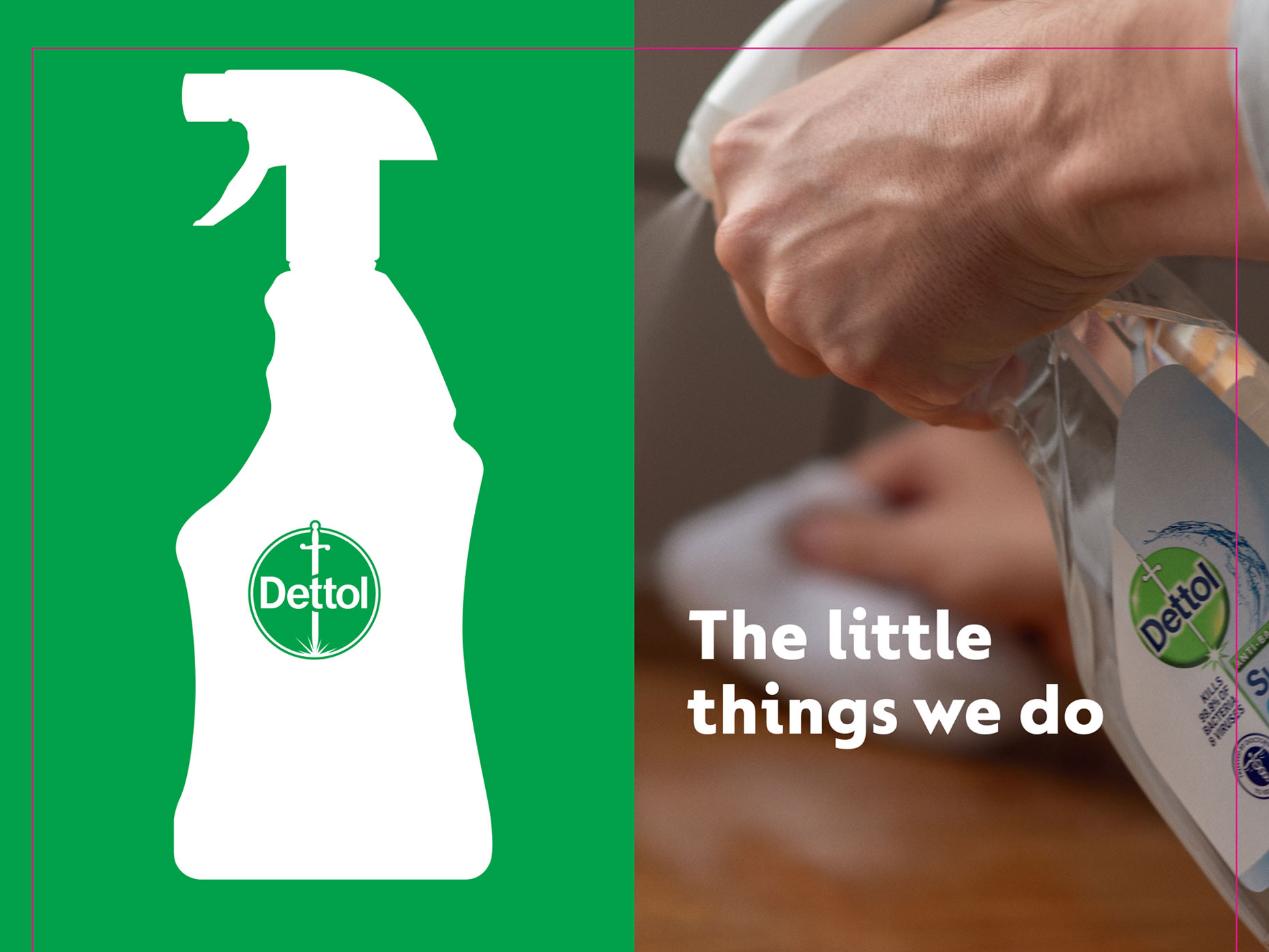 Advertising Photography in London for Dettol Little Things OOH campaign